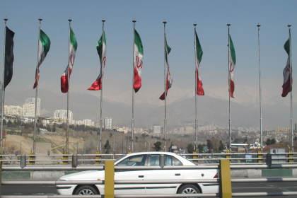 Fahnen Iran ©ICS