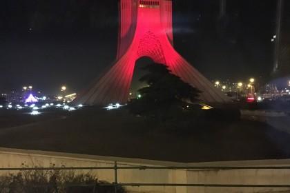 Azadi Tower, Teheran bei Nacht ©ICS, Markus Hauser