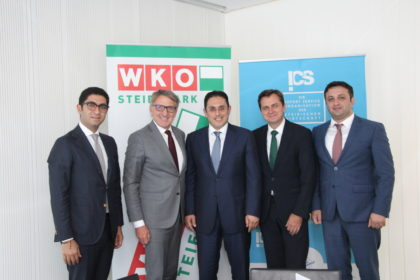 ©v.l.n.r: Nariman Bakhishev, Josef Herk, S.E. Galib Israfilov, Franz Prettenthaler, Samir Rzayev
