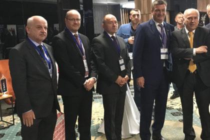 ©Mag. Andreas Meindl (AC Sarajevo), Dr. Robert Brugger (ICS), Mag. Martin Pammer (österr. Botschafter in BiH), Jürgen Mandl MBA (Präsident WK Kärnten), Valentin Inzko (Hoher Repräsentant für BiH)