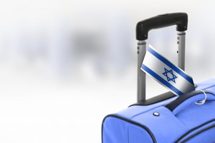 © Destination Israel. Blue suitcase with flag.