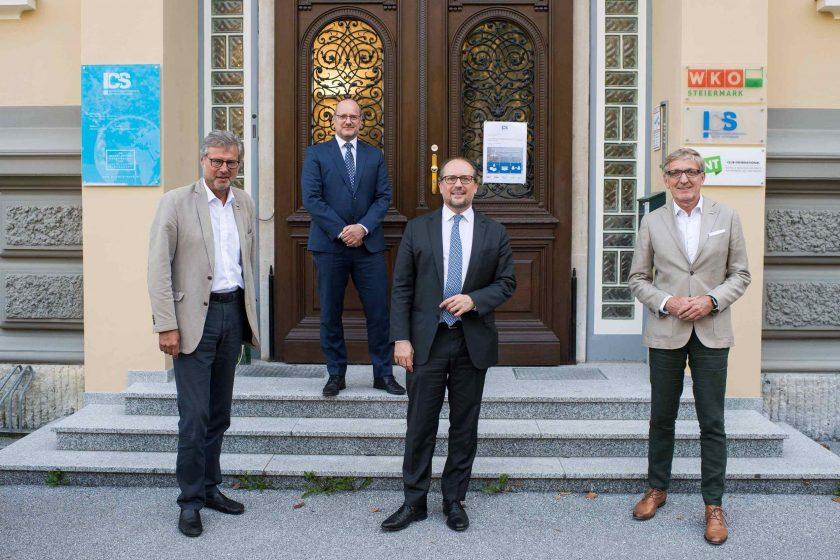 ©ICS   vlnr: Karl-Heinz Dernoscheg, Robert Brugger, Alexander Schallenberg, Josef Herk